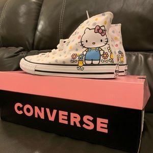 New Girl's Hello Kitty Converse High Top Sneaker